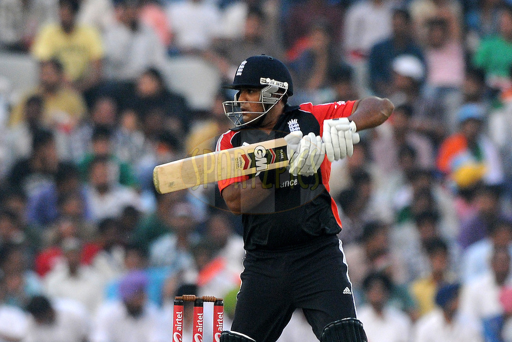 Sumit Patel of England bats during the 3rd One Day International ( ODI ) match between India and England held at  the PCA Stadium, Mohali on the 20th October 2011..Photo by Pal Pillai/BCCI/SPORTZPICS