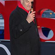 NLD/Amsterdam/20120404 - Opening filmmuseum Eye, Job Cohen met flesje champagne