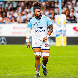 Mathew LUAMANU of Bayonne during the Top 14 match between Bayonne and Montpellier on October 12, 2019 in Bayonne, France. (Photo by JF Sanchez/Icon Sport) - Mathew LUAMANU - Stade Jean Dauger - Bayonne (France)