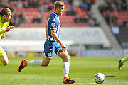 Wigan Midfielder Michael Jacobs during the Sky Bet League 1 match between Wigan Athletic and Southend United at the DW Stadium, Wigan, England on 23 April 2016. Photo by John Marfleet.