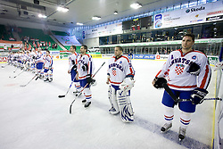Team of Croatia at IIHF Ice-hockey World Championships Division I Group B match between National teams of Hungary and Croatia, on April 20, 2010, in Tivoli hall, Ljubljana, Slovenia.  (Photo by Vid Ponikvar / Sportida)