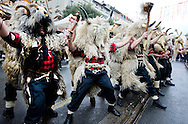 Zvoncari ('bell ringers') at the Rijeka Carnival, Rijeka, Croatia © Rudolf Abraham