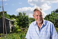 Senior man in garden portrait