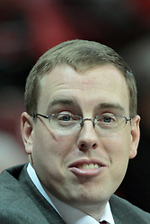 11 January 2014:  Assistant Athletic Director Mike Williams during an NCAA  mens basketball game between the Ramblers of Loyola University and the Illinois State Redbirds  in Redbird Arena, Normal IL.  Redbirds win 59-50