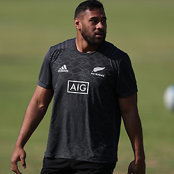 PRETORIA, SOUTH AFRICA - OCTOBER 05: Patrick Tuipulotu of the New Zealand (All Blacks) during the Rugby Championship New Zealand All Blacks captain's run at St David's Marist Inanda 36 Rivonia Rd, Sandown, Sandton,on October 5, 2018 in Pretoria, South Africa. (Photo by Steve Haag/Getty Images)