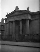 Protestant Churches around Dublin for Belfast Telegraph..Presbyterian Church at Sean MacDermott Street, Dublin 1 now used as a mill...07/01/1956