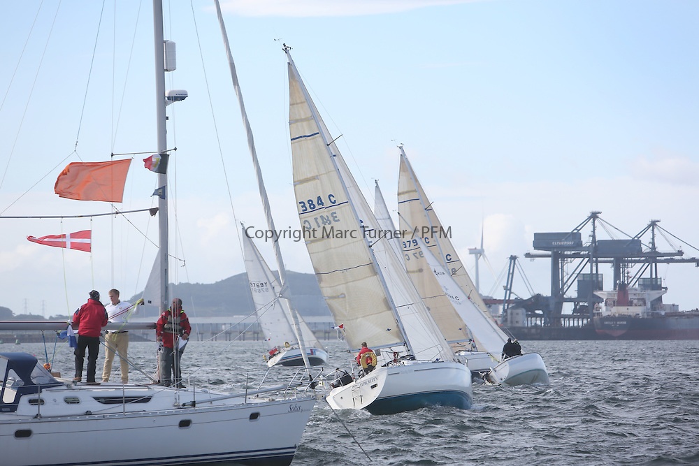 The Scottish Two Handed Race as part of Largs Regatta Week.<br /> <br /> Class 3 start of Hunterston<br /> <br /> Image Credit Marc Turner