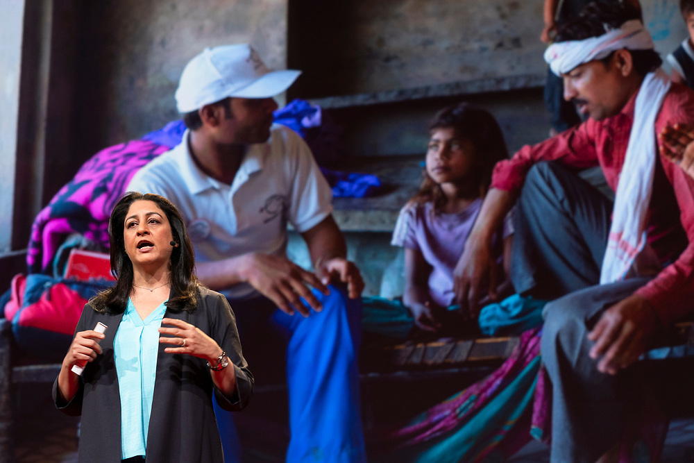 Safeena Husain speaks at TED2019: Bigger Than Us. April 15 - 19, 2019, Vancouver, BC, Canada. Photo: Bret Hartman / TED