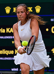 LONDON, ENGLAND - Tuesday, July 10, 2018: xxxx during the Ladies' Singles Quarter-Final match on day eight of the Wimbledon Lawn Tennis Championships at the All England Lawn Tennis and Croquet Club. (Pic by Kirsten Holst/Propaganda)