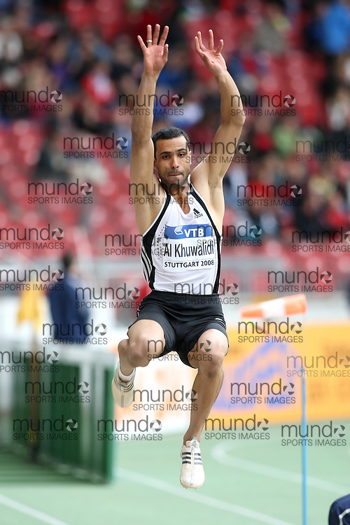 (Stuttgart, Germany---14 September 2008) Mohamed Salman Al Khuwal of the Kingdom of Saudi Arabia competing in the long jump at the 2008 World Athletics Final. [Copyright Sean W. Burges/Mundo Sport Images, 2008.]