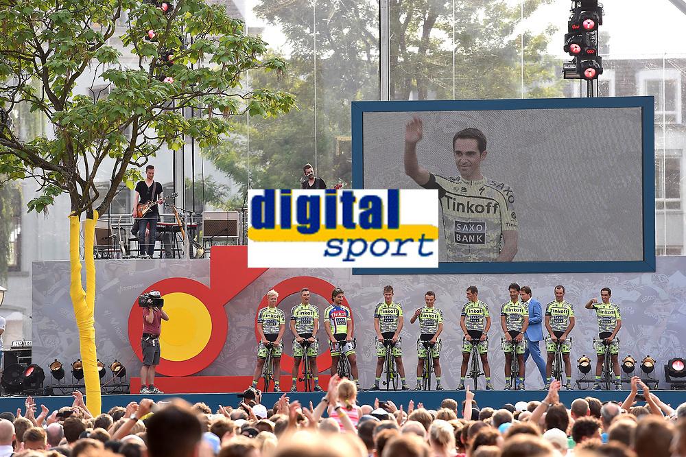 Team Tinkoff Saxo (RUS), CONTADOR Alberto (ESP), SAGAN Peter (SVK), during the 102nd Tour de France, Team Presentation, in Utrecht, Netherlands, on July 2, 2015 - Photo Tim de Waele / DPPI
