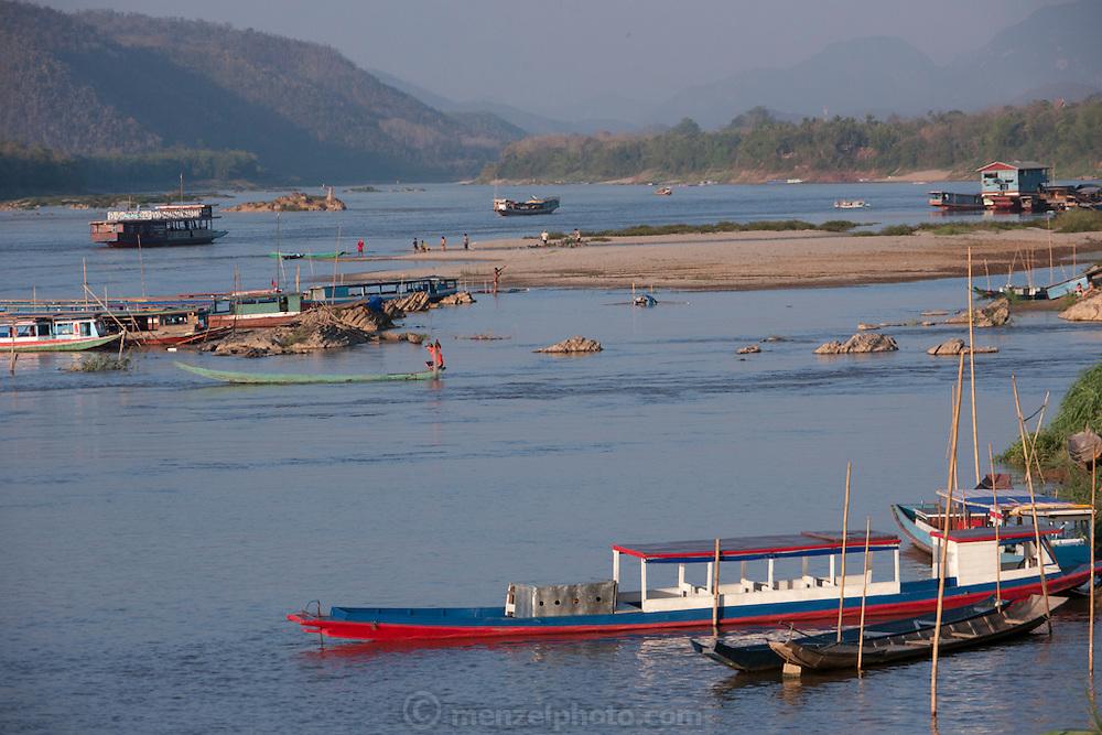 On the Mekong River near Luang Prabang, Laos.
