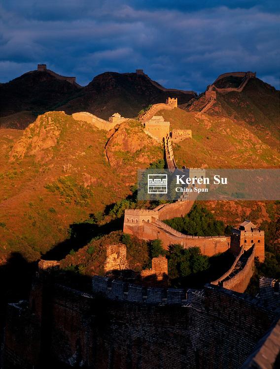 Great Wall at sunset, China