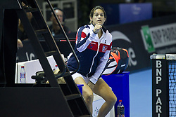 November 13, 2016 - Strasbourg, France - France's coach Amelie Mauresmo reacts, on November 13, 2016 in Strasbourg, eastern France, during the Fed Cup final tennis match between France's Caroline Garcia and Czech Republic's Karolina Pliskova. (Credit Image: © Elyxandro Cegarra/NurPhoto via ZUMA Press)