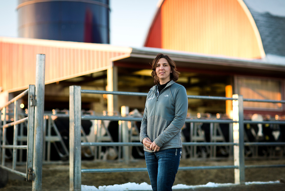 "ELDORADO, WI – FEBRUARY 2: Janet Clark poses for a portrait at Vision Aire Farms on February 2, 2017. Clark reached out to Senator Tammy Baldwin (D-WI) for assistance regarding companies using of the word ""milk"" to describe plant-based beverages such as soy milk and almond milk."