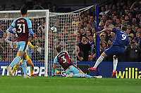 Football - 2018/ 2019 Premier League - Chelsea vs Burnley<br /> <br /> Gonzalo Higuain of Chelsea scores goal no 2 from a tight angle at Stamford Bridge<br /> <br /> Colorsport  / Andrew Cowie