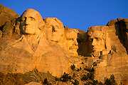 Morning light on Mount Rushmore, Mount Rushmore National Memorial, South Dakota