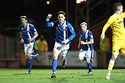 GOAL Ian Henderson celebrates equalising for Rochdale 2-2  during the EFL Sky Bet League 1 match between Rochdale and Millwall at Spotland, Rochdale, England on 21 March 2017. Photo by Daniel Youngs.