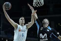 April 29, 2018 - Madrid, Madrid, Spain - DINO RADONCIC  of Real Madrid in action during a Liga Endesa Basketball game between Estudiantes and Real Madrid, at the Palacio de los Deportes, in Madrid, Spain, 29 April 2018. (Credit Image: © Oscar Gonzalez/NurPhoto via ZUMA Press)