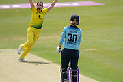 WICKET -  Sarah Taylor is bowled by Megan Schutt during the Royal London Women's One Day International match between England Women Cricket and Australia at the Fischer County Ground, Grace Road, Leicester, United Kingdom on 2 July 2019.