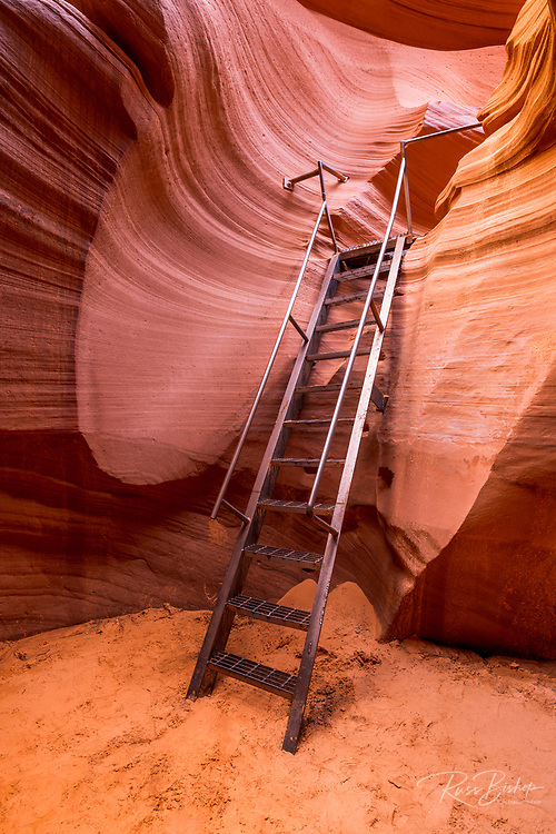 Ladder in lower Antelope Canyon, Navajo Indian Reservation, Arizona USA