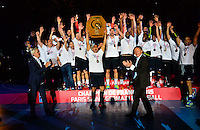 Philippe BERNAT SALLES / Daniel NARCISSE / Thierry BRAILLARD / PSG Champion - 04.06.2015 - Tremblay en France / Paris Saint Germain - 26eme journee de Division 1 -Beauvais<br />