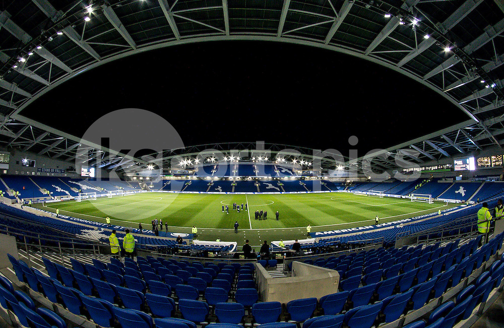 The AMEX stadium before the Sky Bet Championship match between Brighton and Hove Albion and Millwall at the AMEX Stadium, Brighton, England on 12 December 2014. Photo by Liam McAvoy.