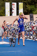 Kerry Lang GBR.Womens ITU Race.2011 Dextro Energy Triathlon ITU World Championship Sydney.Sydney, New South Wales, Australia..Hosted By USM Events.Proudly Supported By Asics, Dextro, Suunto, Events New South Wales, Subaru, USM Events..10/04/2011.Photo Lucas Wroe