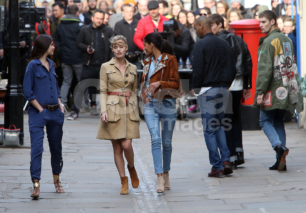 Georgia May Jagger onset of the new Rimmel London commercial. London, UK. 13/03/2015<br />