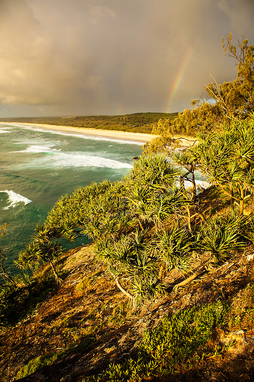 The view south from the headland at Point Lookout, Stradbroke Island.
