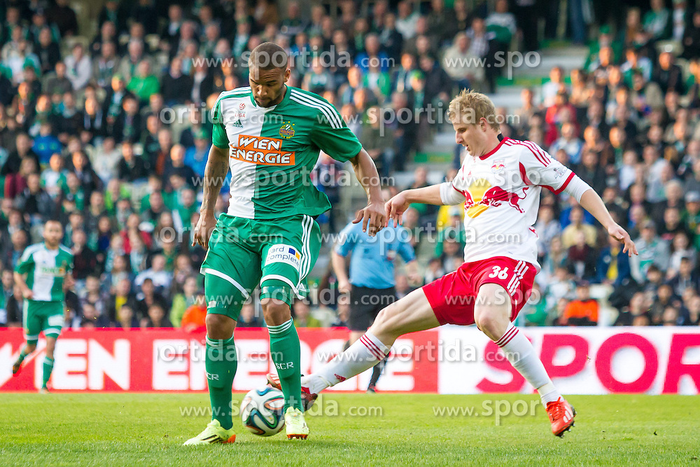 26.04.2014, Gerhard Hanappi Stadion, Wien, AUT, 1. FBL, SK Rapid Wien vs Red Bull Salzburg , 34. Runde, im Bild Terrence Boyd, (SK Rapid Wien, #9), Martin Hinteregger, (Red Bull Salzburg, #36)// during Austrian Bundesliga Football Match, 34th Round, between SK Rapid Wien and Red Bull Salzburg at the Gerhard Hanappi Stadion, Vienna, Austria on 2014/04/26. EXPA Pictures © 2014, PhotoCredit: EXPA/ Sebastian Pucher