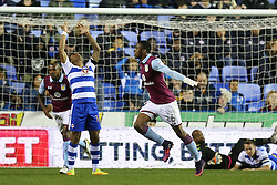 Goal, Jonathan Kodjia of Aston Villa scores, Reading 0-1 Aston Villa - Mandatory by-line: Jason Brown/JMP - 18/10/2016 - FOOTBALL - Madejski Stadium - Reading, England - Reading v Aston Villa - Sky Bet Championship