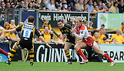 Wycombe, GREAT BRITAIN, Gloucesters', Olly MORGAN, on the break,  during the Guinness Premiership game, London Wasps vs Gloucester Rugby, Sun. 04.05.2008 [Mandatory Credit Peter Spurrier/Intersport Images]