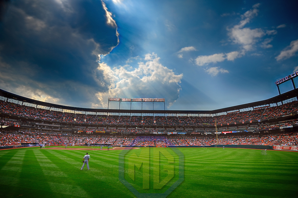 8 September 2013:  A 15 frame HDR image of Camden Yards in Baltimore, MD. where the Chicago White Sox defeated the Baltimore Orioles, 4-2.