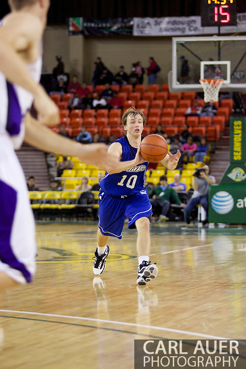 November 27th, 2010:  Anchorage, Alaska - Drake Bulldog Ryan Wedel (10) passes the in the 81-82 Drake loss to Weber State in the third place game at the Great Alaska Shootout.