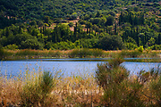 Lake landscape On the Greek Island of Cephalonia, Ionian Sea, Greece