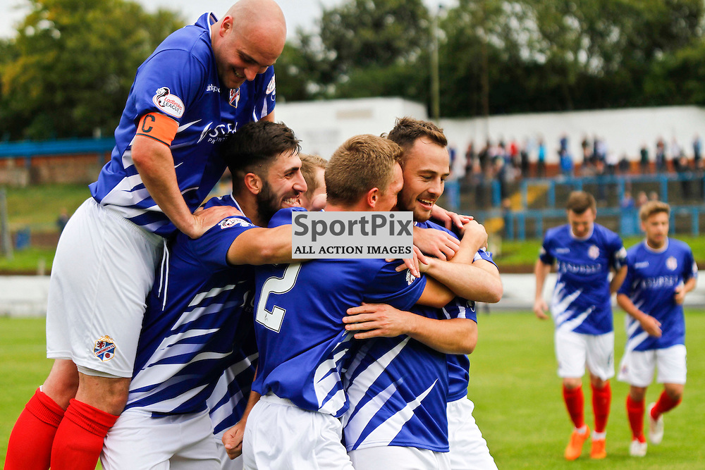 Cowdenbeath FC V Forfar Athletic, Scottish League 1, 19th September 2015<br /> <br /> Cowdenbeath FC V Forfar Athletic, Scottish League 1, 19th September 2015<br /> <br /> COWDENBEATH CELEBRATIONS