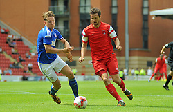 Leyton Orient's David Mooney carries the ball - photo mandatory by-line David Purday JMP- Tel: Mobile 07966 386802 02/08/14 - Leyton Orient v Ipswich Town - SPORT - FOOTBALL - Pre season - London -  Matchroom Stadium