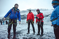 Glacier hike at Solheimajokull - Hekla - Winter in  Iceland. ©2019 Karen Bobotas Photographer