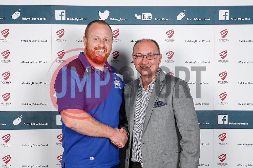 Ross McMillan of Bristol Rugby poses during the Player Sponsors' Dinner in the Heineken Lounge at Ashton Gate - Mandatory byline: Rogan Thomson/JMP - 08/02/2016 - RUGBY UNION - Ashton Gate Stadium - Bristol, England - Bristol Rugby Player Sponsors' Dinner.