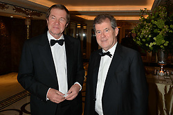 Left to right, GEORGE O'GRADY and J P McMANUS at the 24th Cartier Racing Awards held at The Dorchester, Park Lane, London on 11th November 2014.