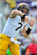 FORT WORTH, TX - SEPTEMBER 13:  Mitch Leidner #7 of the Minnesota Golden Gophers throws a pass against the TCU Horned Frogs on September 13, 2014 at Amon G. Carter Stadium in Fort Worth, Texas.  (Photo by Cooper Neill/Getty Images) *** Local Caption *** Mitch Leidner