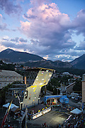 Semifinal competition during 2015 World Cup Climbing Competition in Briancon France