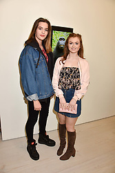 Left to right, Ruby Sear and Maisie Smith at a preview of the 'From Selfie To Self-Expression' exhibition at The Saatchi Gallery, Duke Of York's HQ, King's Road, London, England. 30 March 2017.