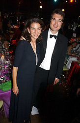 LORD & LADY FRANCIS RUSSELL at the party Belle Epoque hosted by The Royal Parks Foundation and Champagne Perrier Jouet held at the Lido Lawns of the Serpentine, Hyde Park, London on 14th September 2006.<br />