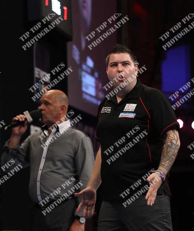 PDC WORLD MATCHPLAY 2014,MICHAEL SMITH,<br /> PIC CHRIS SARGEANT,<br /> TIPTOPPICS