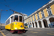 Streetcar, Square of the Commerce, Lisbon, Portugal