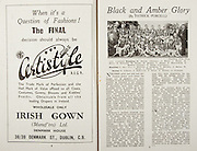 All Ireland Senior Hurling Championship Final,.Brochures,.02.09.1945, 09.02.1945, 2nd September 1945,.Tipperary 5-6, Kilkenny 3-6, .Minor Dublin v Tipperary, .Senior Tipperary v Kilkenny, .Croke Park, ..Advertisments, Certistyle, ..Articles, Black and Amber Glory,