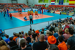 09-06-2019 NED: Golden League Netherlands - Spain, Koog aan de Zaan<br /> Fourth match poule B - The Dutch beat Spain again in five sets in the European Golden League / Sporthal de Koog, Dutch support, orange