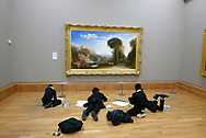 School children at the Tate Museum in London.<br /> Photo by Dennis Brack